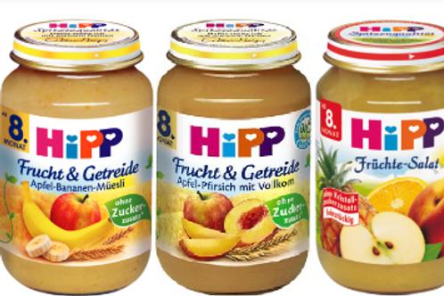 Hipp φρούτα & δημητριακά βιολογικής καλλιέργειας από 8 μηνών 190gr
