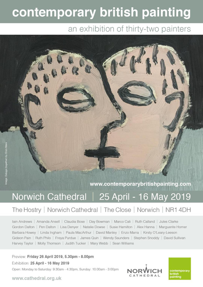 Contemporary British Painting - an exhibition of thirty-two Painters at The Hostry Norwich Cathedral