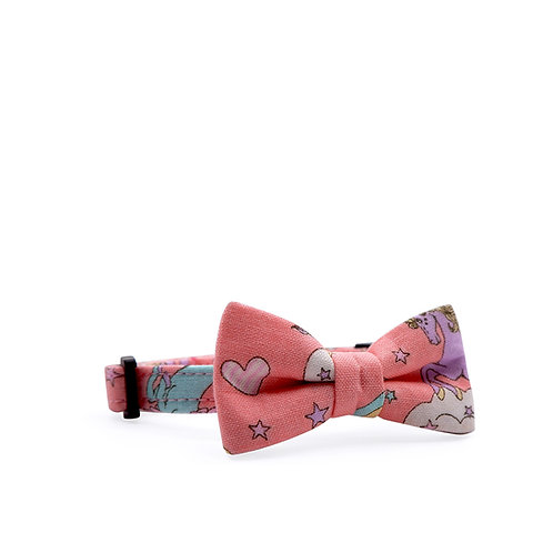 UNICORN (STRAWBERRY) WEEKEND BOW CAT COLLAR