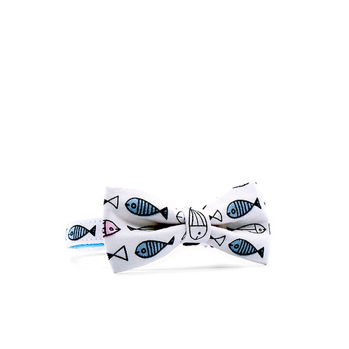 I LOVE TUNA WEEKEND BOY BOW PET COLLAR