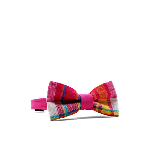 PIPERS' PLAIDS (PINK) WEEKEND BOY BOW TIE PET COLLAR