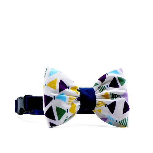 MISTER GEO BOUFFANT BOW TIE DOG COLLAR