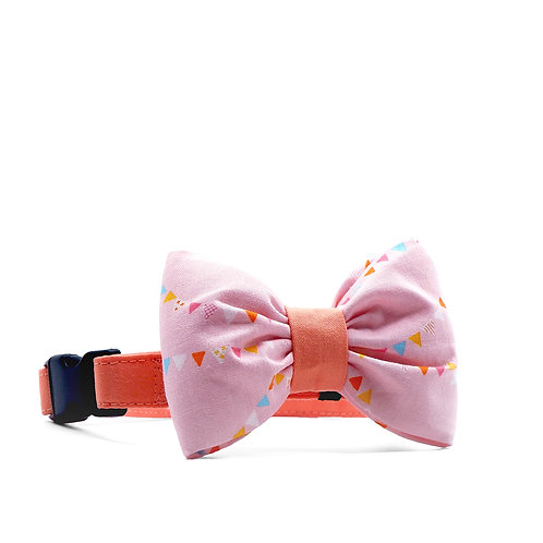 SUMMER BUNTINGS BOUFFANT BOW TIE DOG COLLAR