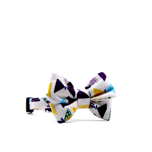 MISTER GEO WEEKEND GIRL BOW TIE PET COLLAR