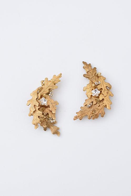 mn-ba-69 yomogi leaf earring