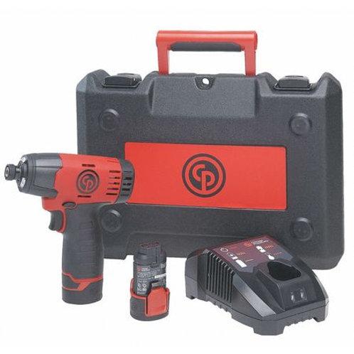 "Chicago Pneumatic CP8818K 1/4"" Cordless Impact Driver Kit, Red/Black"