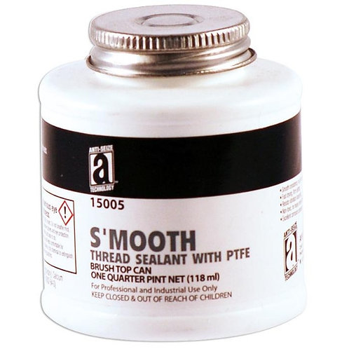 S'MOOTH Thread Sealant with PTFE  8 OZ BRUSH TOP- 15008