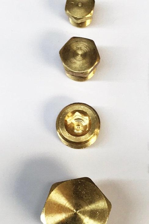 """Brass Plugs 1/8"""", 1/4"""", 3/8"""", & 1/2"""" NPT"""
