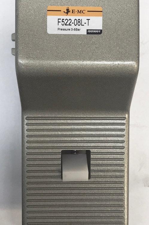 """EMC F522-08L-T Locking Foot Pedal 2 Position 1/4"""" Ports"""
