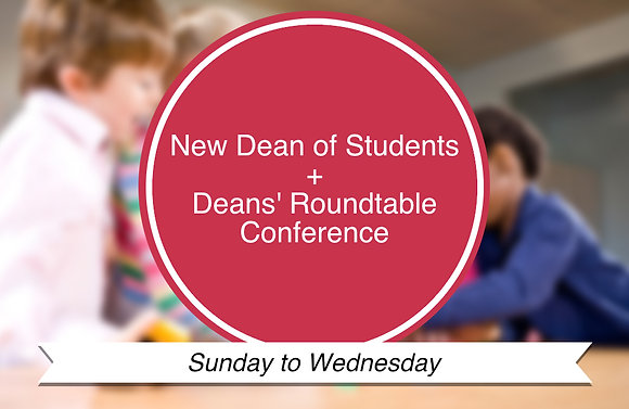 New Dean of Students+Deans' Roundtable Conference