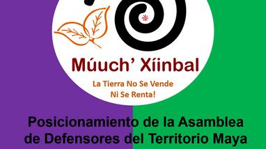 Posicionamiento de la Asamblea Múuch' Xíinbal respecto a los actos represivos en Cancún, Q.Roo.