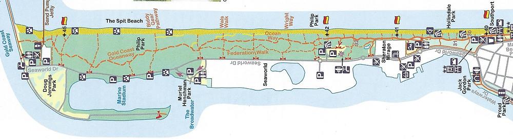 Gold Coast Bike Map