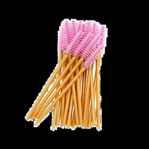 50 Pink/gold Lash Wands