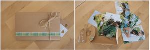Pochette photo décorée avec tirages argentiques