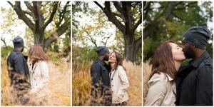 Jeune couple amoureux au parc de la tete d'or lors d'un shooting photo par Dame Chrysantheme