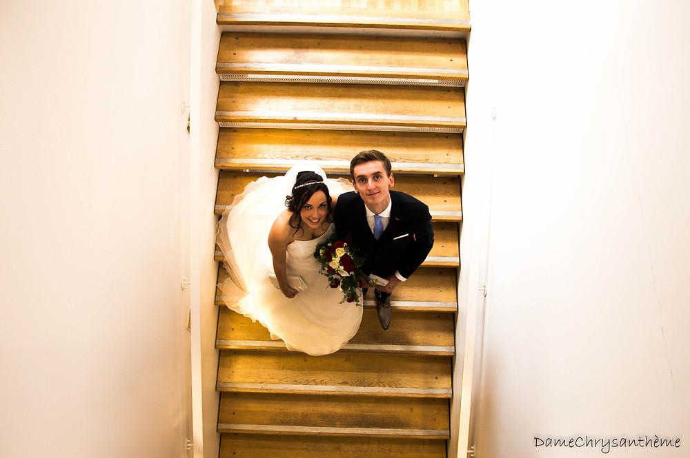 Jeunes mariés à la Mairie