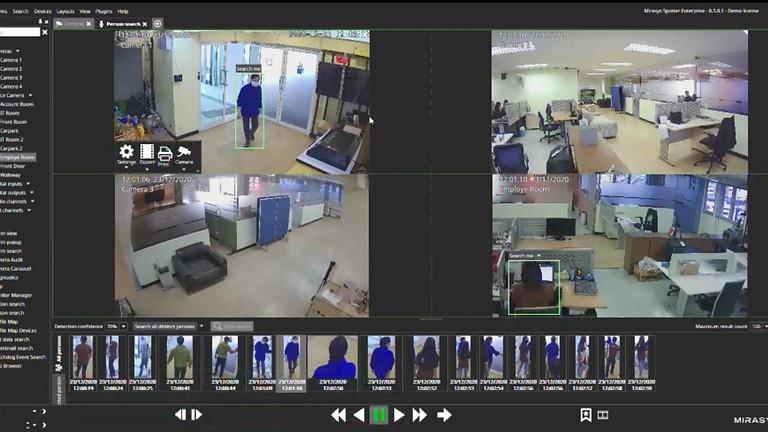 (FI) Henkilöhaku plug-in: etsi henkilöitä profiilin mukaisesti useista järjestelmän kameroista ja nopeuta tutkintaa