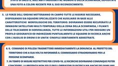 Documento - Linee Guida per le ricerche delle persone scomparse in tempo di Covid19