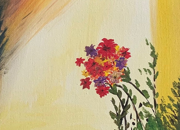 """Just Simple- Impressionism Style Acrylic on Canvas- size 10""""H x 8""""W"""