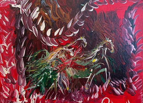 Impressionism Abstract Horses