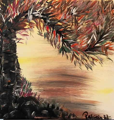 """Timing - Original Painting Acrylic on Canvas- Size 12""""W by 12""""H"""