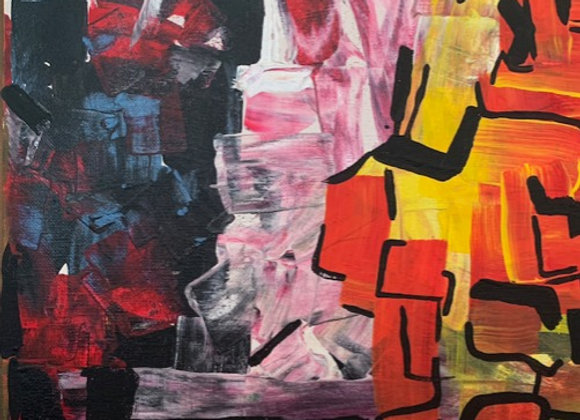 """Greatness Within- Size 12""""H by 12""""W- Acrylic on Canvas"""
