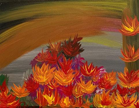 Florencia No1-Colorful Contemporary Artwork