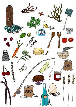 Recipe Illustrations - Blackheath and Greenwich WI Cookbook