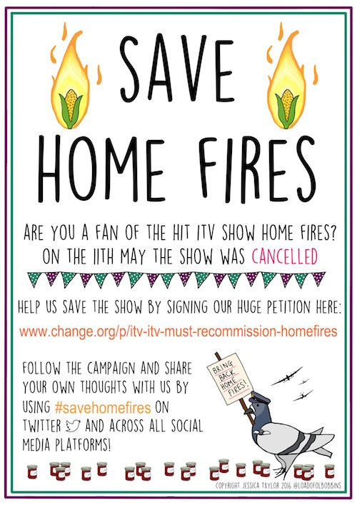 Save Home Fires Campaign Poster Copyright Jessica Taylor 2016