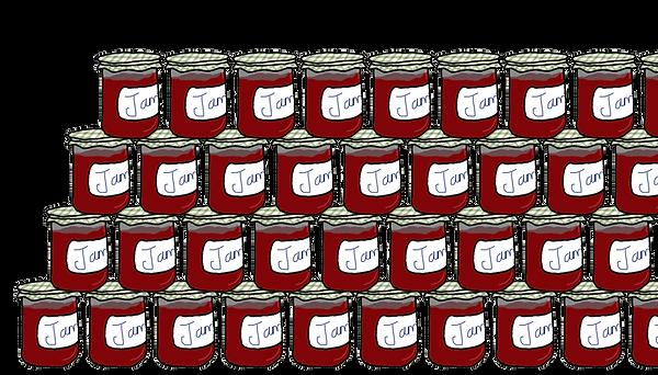 Stacks of Jam Jars illustration Copyright Jessica Taylor 2016