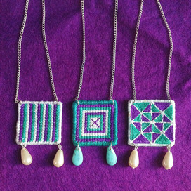 Suffragette Inspired Necklaces