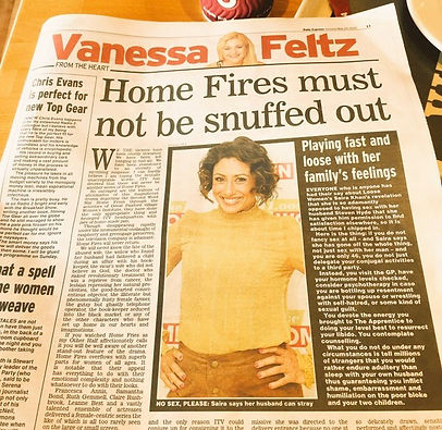 Vanessa Feltz Daily Express column 24th May 2016