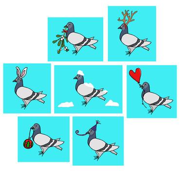 Seasonal Pigeons
