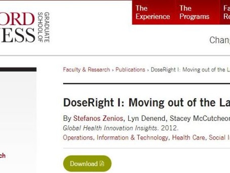 "DoseRight featured in Stanford Graduate School of Business' ""Global Health Innovation Se"