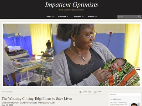Gates Foundation blogs about the Pumani