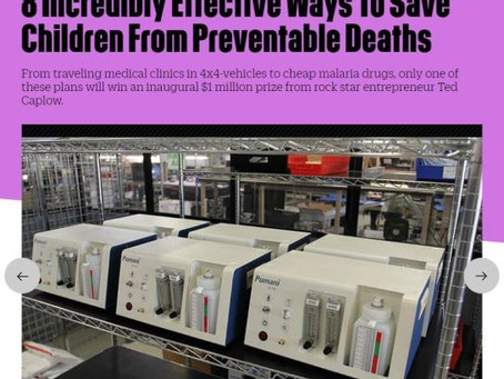 Fast Company names Pumani as 1 of 8 Incredibly Effective Ways to Save Children from Preventable Deat