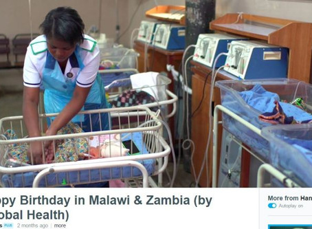 """Pumani makes a cameo in Laerdal Global Health's """"10,000 Happy Birthdays"""" video"""
