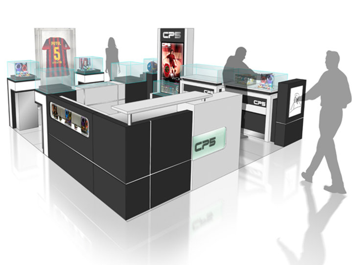 kiosk design, stores design & displays