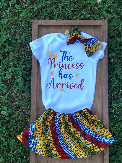 Ghana print baby outfit