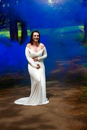 Gender reveal smoke bomb photo shoot