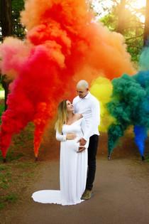 Rainbow baby maternity photo shoot