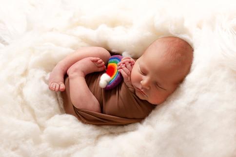 Rainbow baby newborn photo shoot
