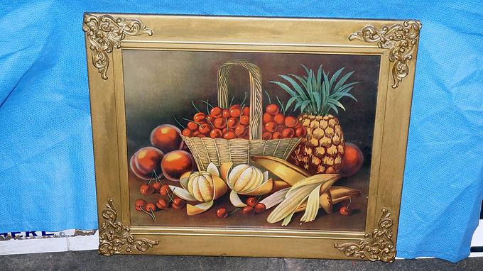 1920s Framed Fruit Print By Le Roy