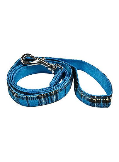 Blue Tartan Fabric Lead