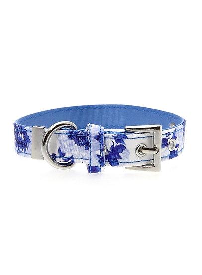 Blue Floral Bouquet Fabric Collar