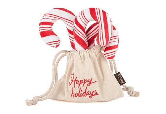 P.L.A.Y.  Christmas Candy Canes Plush Toy