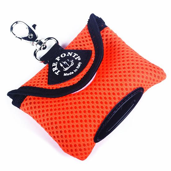 Tre Ponti  Fluo Orange Mesh Poo Bag Dispenser