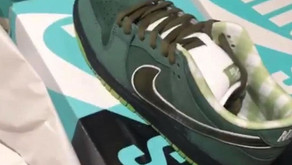 Surge a primeira imagem do Concepts x Nike SB Dunk Low Green Lobster