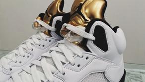 """Air Jordan 5 """"Olympic Gold Medal"""" no Brasil"""
