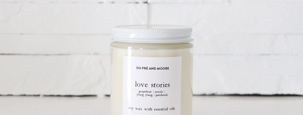 LOVE STORIES // essential oil candle